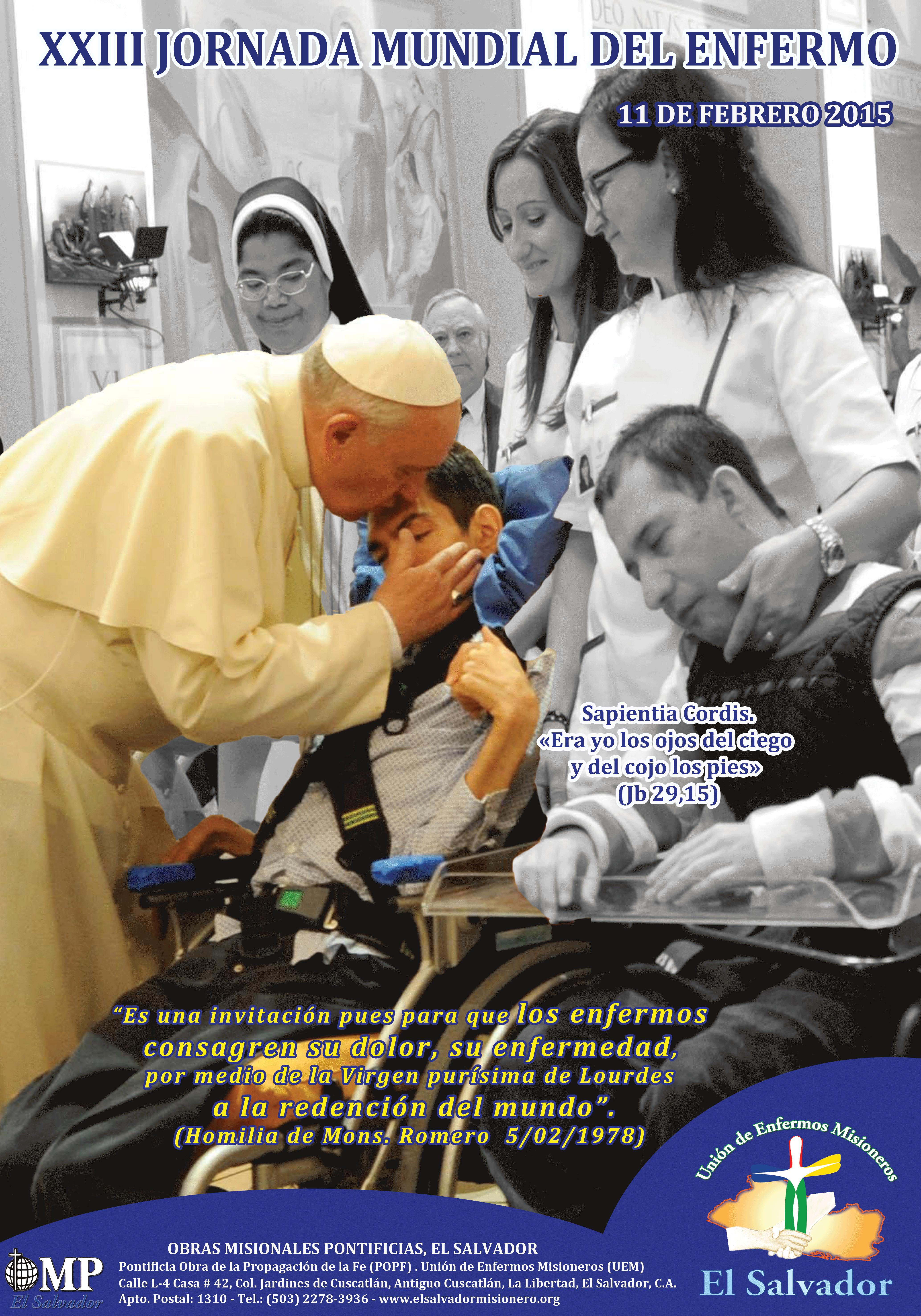 Jornada Mundial Del Enfermo 2015 El Salvador Misionero